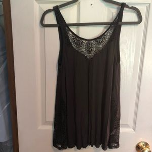 American Eagle Tank Top With Lace Detailing